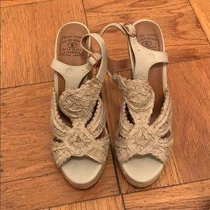 Lucky Brand Ridgeview Macrame Wedge Sandals